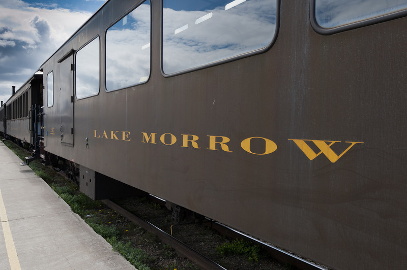 Lake Morrow train at the White Pass Train Station in Alaska