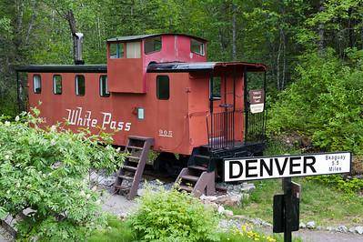 White Pass & Yukon Railroad Caboose No. 905 on the Denver Glacier Trail