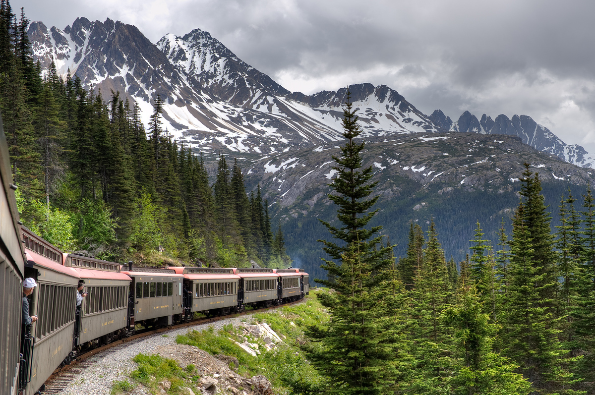 The White Pass & Yukon Train in Skagway, Alaska