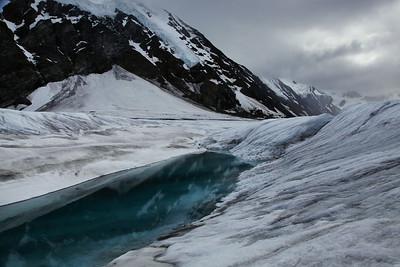 Denali, Alaska A small lake near our landing site on Yanert Glacier.