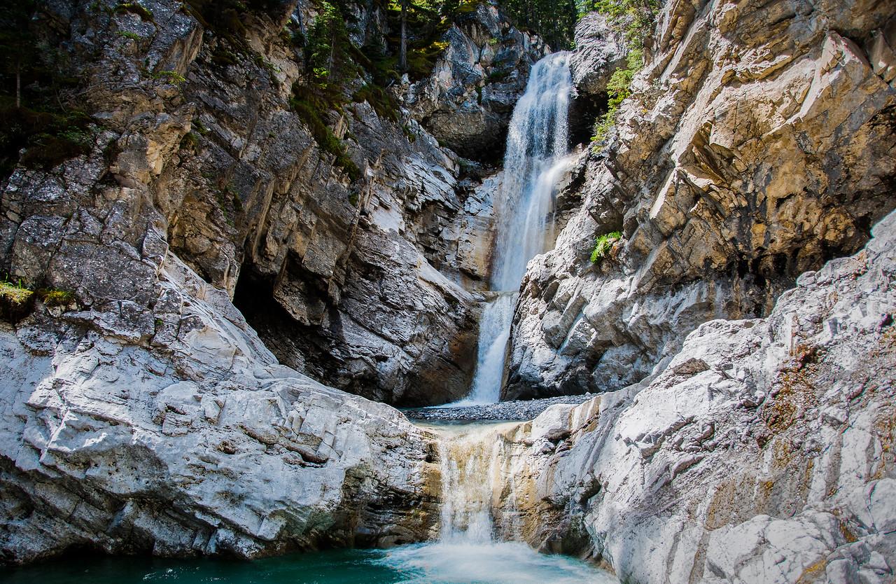 Waterfall near Anchor D Ranch in Alberta, Canada