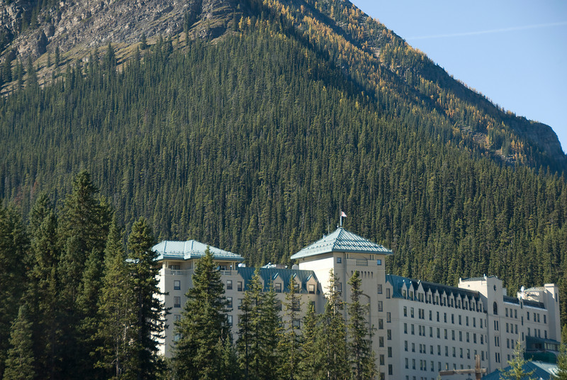 The Fairmont Hotel In Banff National Park, Canadian Rockies, Alberta, Canada