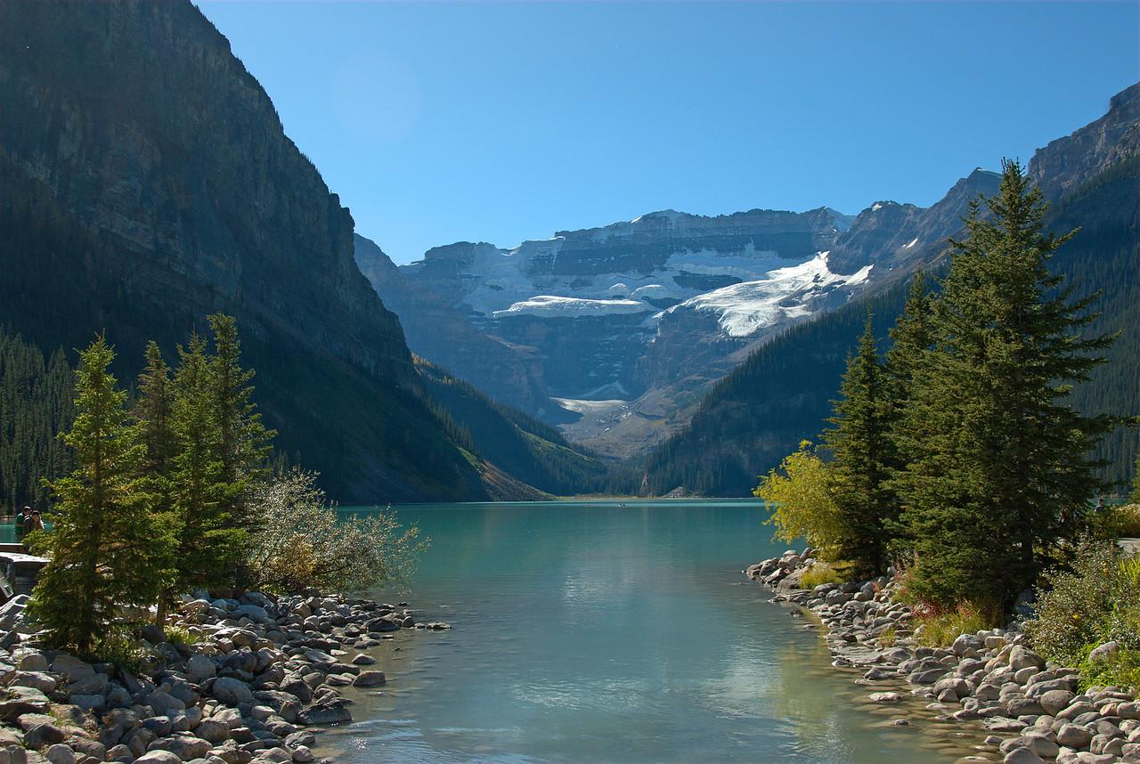 The Canadian Rockies and Moraine Lake in Alberta, British Columbia, Canada
