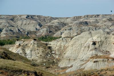 Mountain ranges inside Dinosaur Provincial Park in Calgary, Alberta, Canada