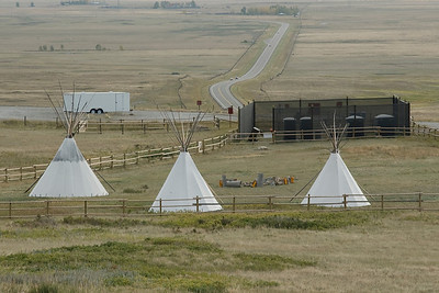 Tipi Village at Head-Smashed-In Buffalo Jump in Alberta, Canada