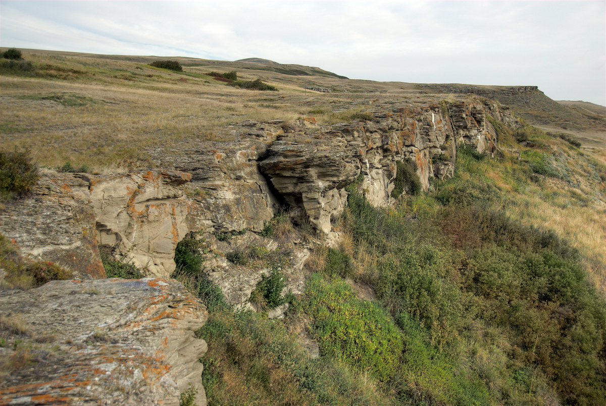 Head-Smashed-In Buffalo Jump National Park World Heritage Site in Alberta, Canada