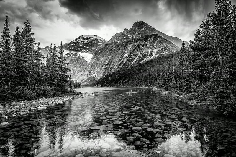 Stream between Amethyst Lakes in Jasper National Park, Canada