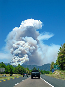 the fire in Flagstaff, 7/10