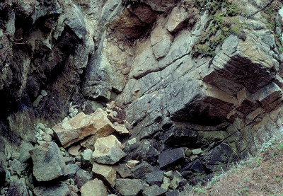 Monterey bay rocks.