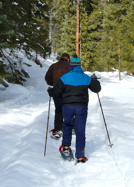 Snowshoeing at Hidden Meadow Ranch