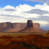 West Mitten Butte sits in the center of this Monument Valley view.