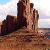 Red rocks on edge in Monument Valley
