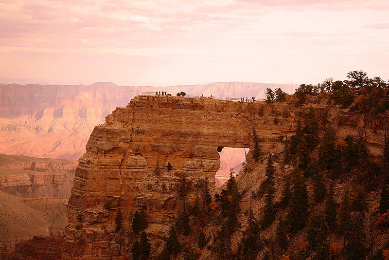 Angels Window on Cape Royal Road at the Grand Canyon's North Rim