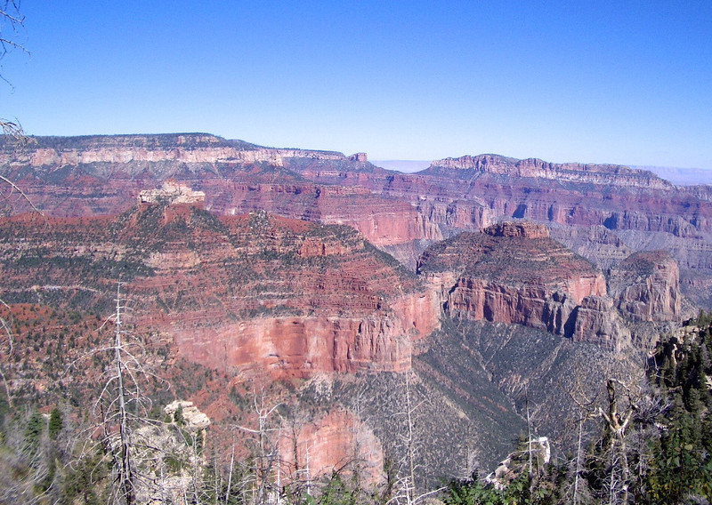 The beautiful colors of the Grand Canyon from the North Rim