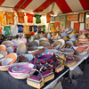 Tent displays African art at the Tucson Gem Show