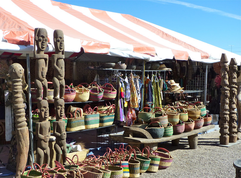 Don't miss the African Art Village at the Tucson Gem Show