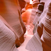 The textured walls of Lower Antelope Canyon in Page, Arizona