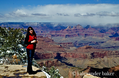 Suzette at our canyon