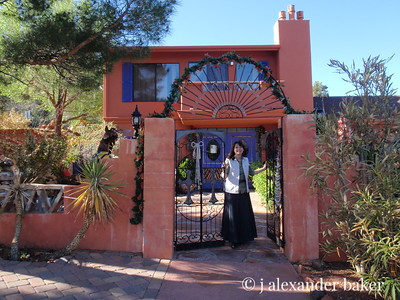 Entrance to A Sunset Chateau. This is a great place to stay in Sedona.