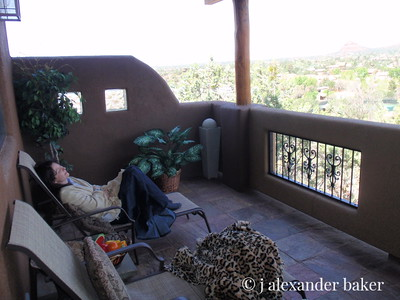 Relaxing in Sedona after 1000 miles of travelling - The Navajo Nation is bigger that New England!