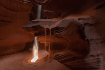 Sun beam in Upper Antelope Canyon in Arizona, USA