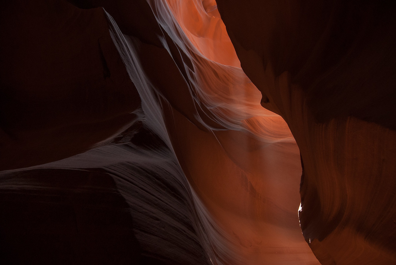 Beam of light entering the Antelope Canyon in Arizona, USA