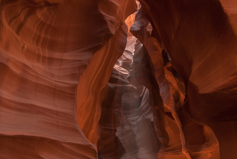 Beam of light entering the Antelope Canyon in Arizona, USA