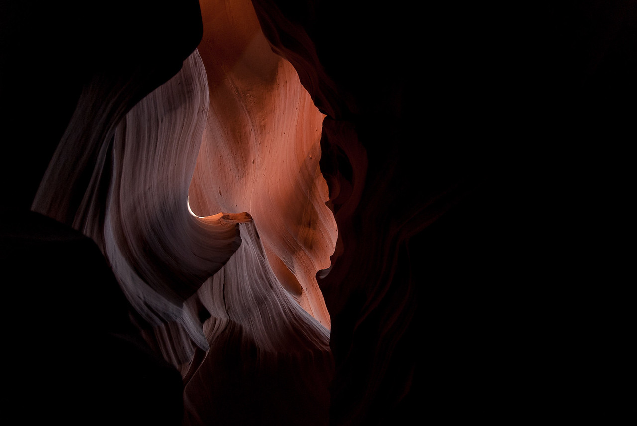 The Antelope Canyon in Arizona, USA