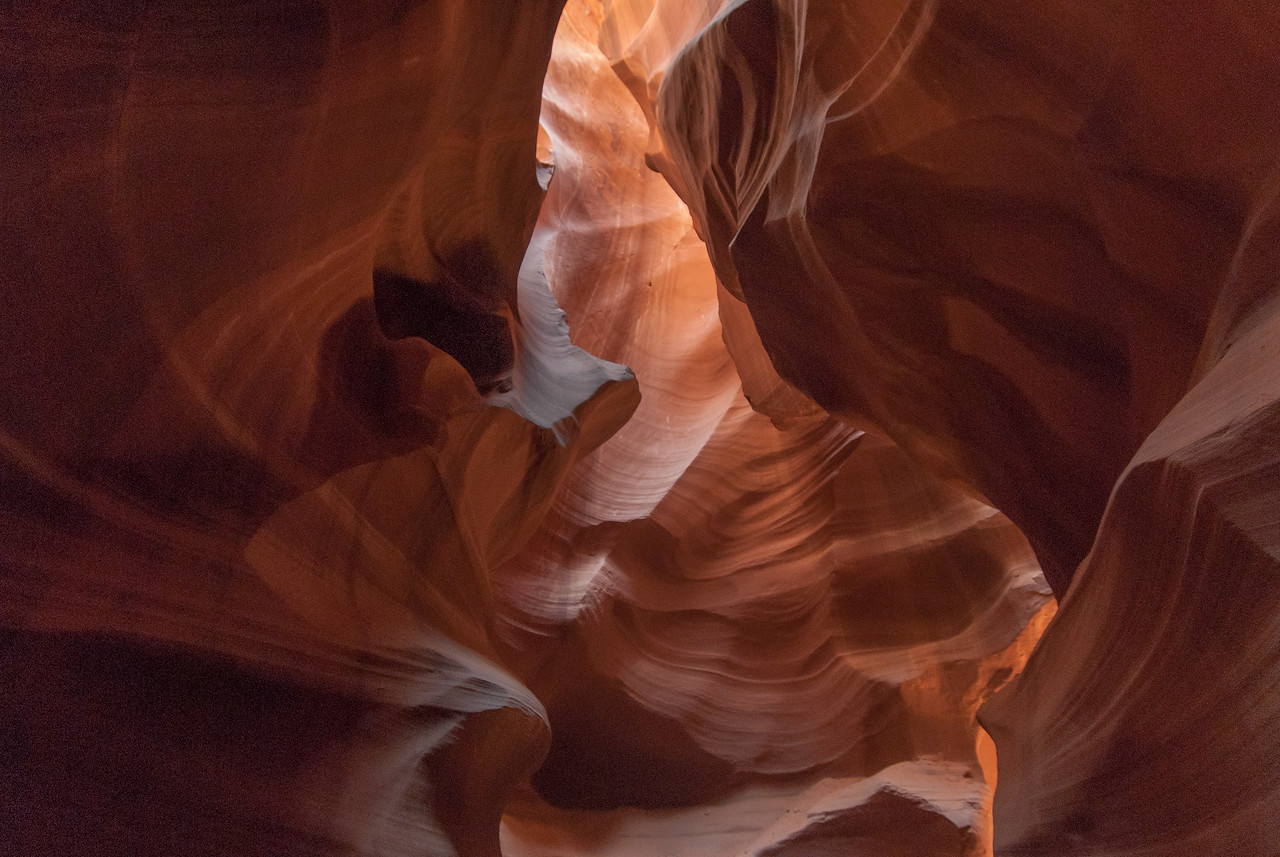 The Antelope Canyon in Arizona, USA