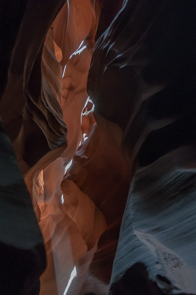 Inside the Antelope Canyon in Arizona, USA