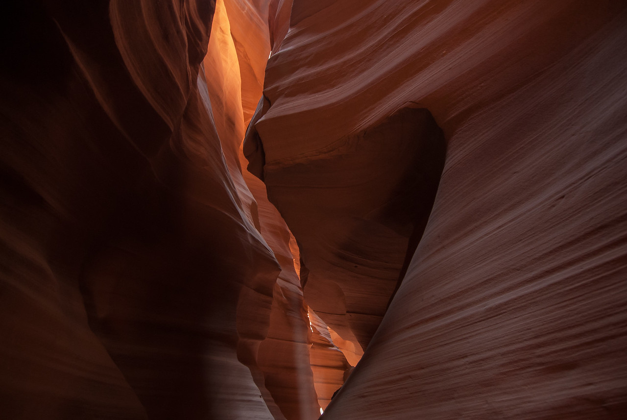 Inside the Antelope Canyon in Arizona, USA