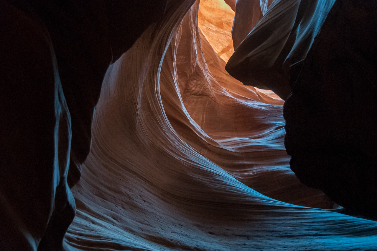 Inside Antelope Canyon in Arizona, USA