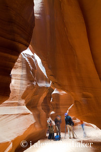 Photographers setting up in Antelope Canyon