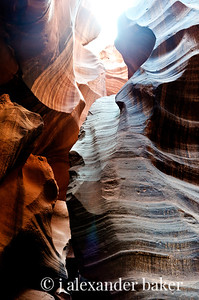 Looking up - Antelope Canyon