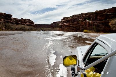 Driving up the river into the canyon