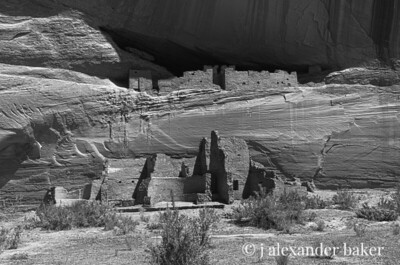 White House Ruin, Canyon de Chelly BW