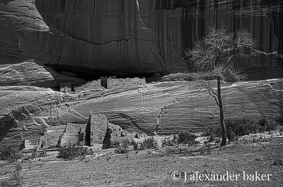 White House Ruin, Canyon de Chelly BW HDR