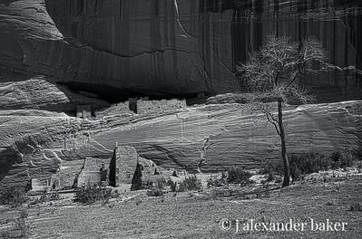White House Ruin, Canyon de Chelly BW HDR