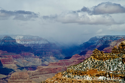 Storm across the canyon