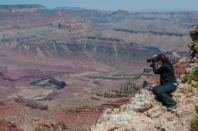 Photographer shooting the Grand Canyon in Arizona, USA