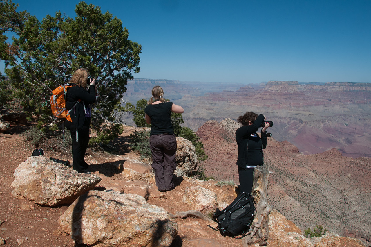 Tourists shooting the Grand Canyon in Arizona, USA