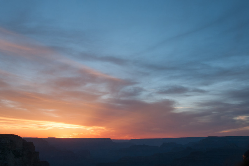 Sunset at Grand Canyon National Park in Arizona, USA