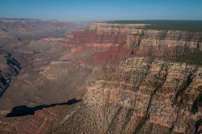 Rock cliffs at Grand Canyon National Park in Arizona, USA