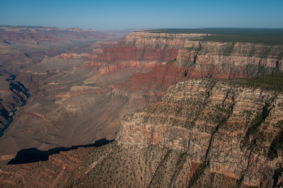 Rock cliffs at Grand Canyon National Park in Arizona, USA