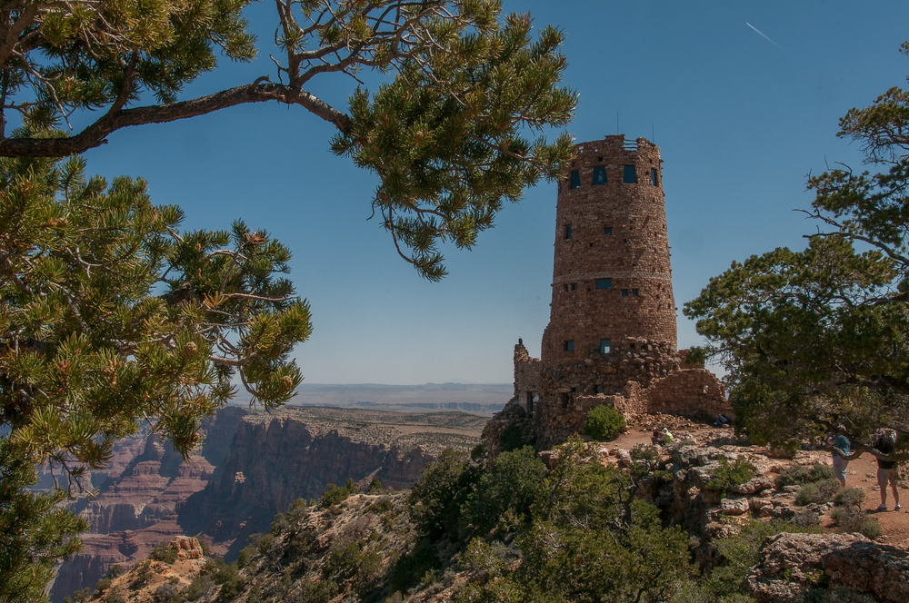 The Desert View Watchtower on the East Rim of the Grand Canyon, Arizona