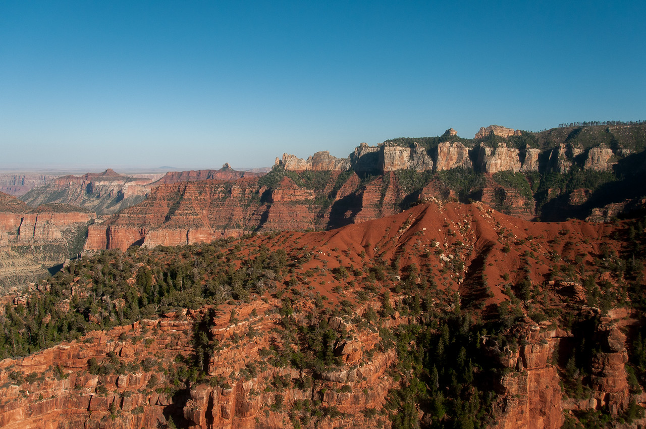 Panorama of cliffs at Grand Canyon in Arizona, USA