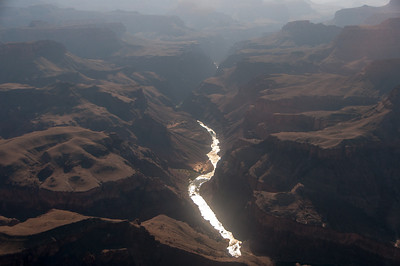 Colorado River winds through Grand Canyon in Arizona, USA