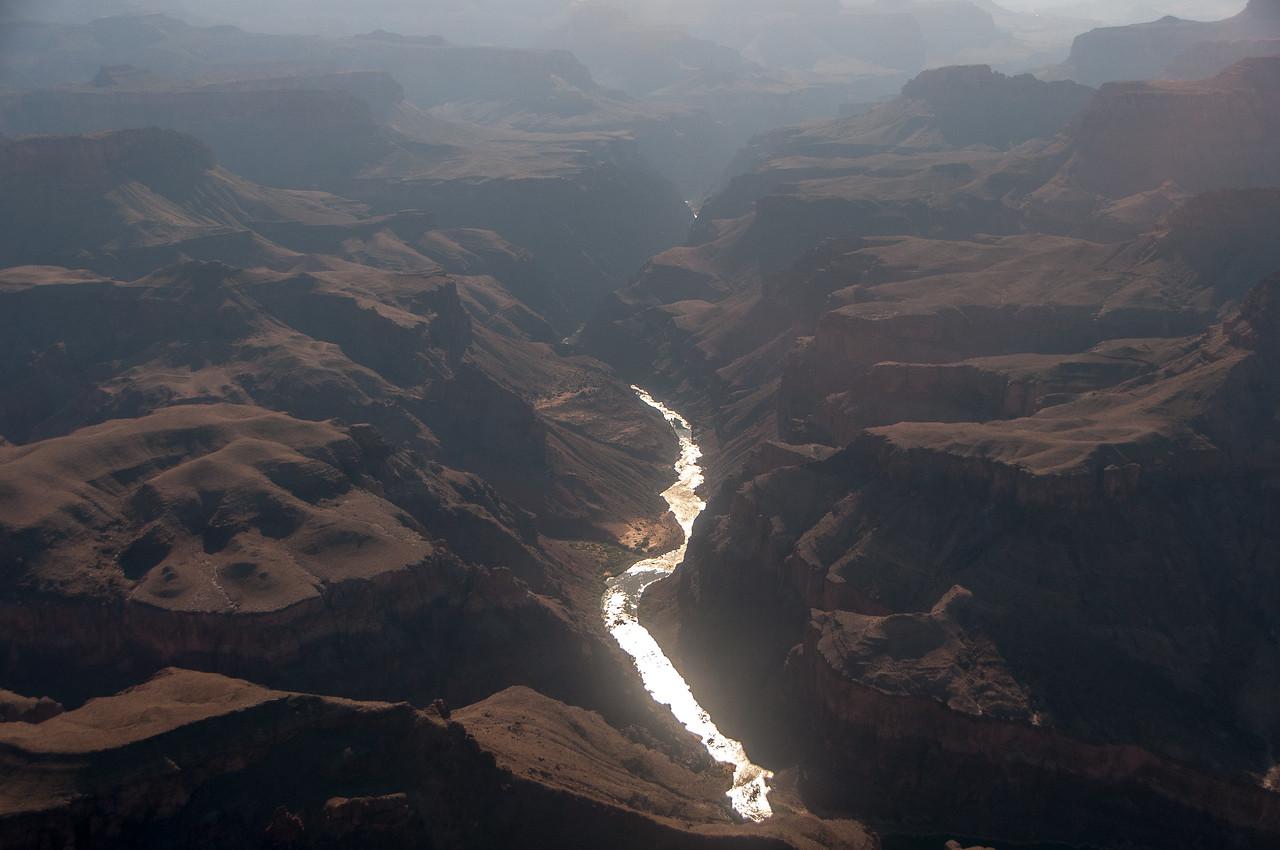 Colorado River winds through Grand Canyon in Arizona, USA