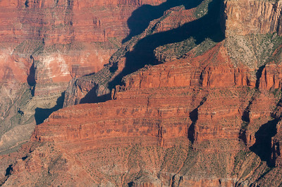 Red sandstone walls in Grand Canyon National Park in Arizona, USA
