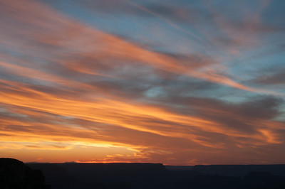 Beautiful sky over Grand Canyon National Park in Arizona, USA